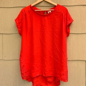Cato | Red Silky Blouse | 16W